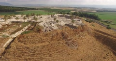 Aerial 4K View of TEL MEGIDDO, ISRAEL Stock Footage