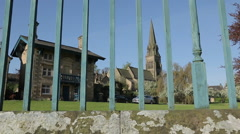 Edensor Village, Chatsworth House, Derbyshire, England, UK, Europe Stock Footage