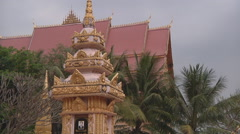 Monastery building in Vientiane, Laos Stock Footage