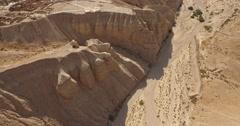 Aerial 4K View QUMRAN, ISRAEL Stock Footage