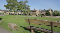 Pilsley Village, Chatsworth Estate, Derbyshire, England, UK, Europe Stock Footage