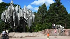 Jan Sibelius monument in Helsinki. Organ. 4K. Stock Footage