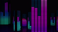 VJ Loops Town Equalizer 4K 03 Stock Footage
