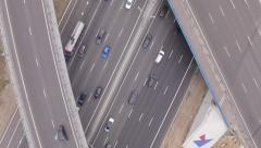 Panoramic view above the road aerial - stock footage