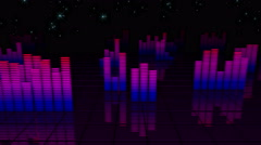 VJ Loop Night City Equalizer 4K 04 - stock footage