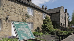 Rose Cottage, (Plague Cottages) Eyam, Derbyshire, England, UK, Europe Stock Footage