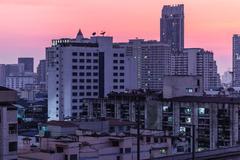 Dawn on Bangkok - stock photo