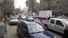 Egypt 2011 - busy Cairo street - stock footage