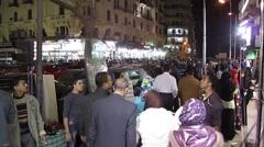 Egypt 2011 - Cairo street at night 13 Stock Footage