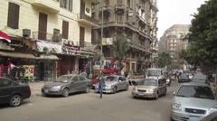 Egypt 2011 - traffic on downtown Cairo street Stock Footage