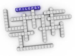 3d image Epilepsy word cloud concept Stock Illustration