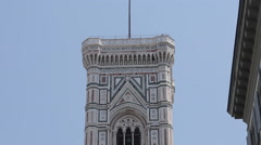 Duomo Campanile & Street Scene, Piazza del Duomo, Florence, Tuscany, Italy, Stock Footage