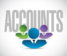 Stock Illustration of accounts team sign illustration design graphic