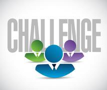 Stock Illustration of challenge team sign illustration design graphic
