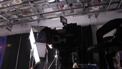 Camera in motion on shooting. Film production Stock Footage