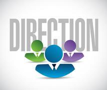 direction team sign illustration design graphic - stock illustration