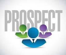 Prospect team sign illustration design graphic Stock Illustration