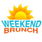 Weekend Brunch Text Icon - stock illustration
