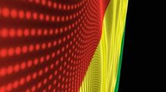 Waving Flag Bolivia Stock Footage