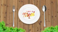 Prepare food outdoors and have dinner Stock Footage