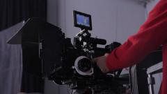 Camera on shooting the film in the Studio. Film production Stock Footage