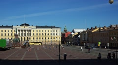 The State Council in Helsinki. 4K. Stock Footage