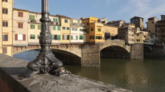 View of Ponte Vecchio, Florence, Tuscany, Italy, Europe Stock Footage