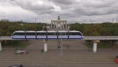 Moving of a Monorail Train - stock footage