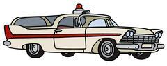 Classic ambulance Stock Illustration