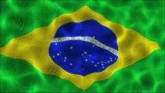 Waving Flag Brazil Stock Footage