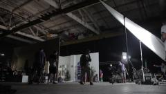 Stock Video Footage of Behind the scenes of filming the movie.