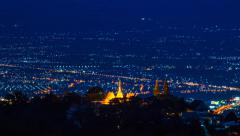 Time Lapse Wat Phra That Doi Suthep On Mountain Of Chiang Mai, Thailand Stock Footage