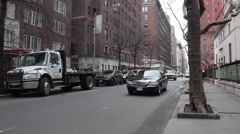 Town Car Right to Left in Murray Hill NYC Stock Footage