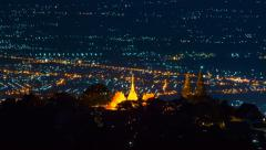 Time Lapse Wat Phra That Doi Suthep On Mountain Of Chiang Mai, Thailand - stock footage