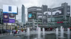 Toronto, Dundas Square Stock Footage