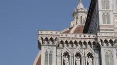 The Duomo, Plaza del Duomo, Florence, Tuscany, Italy, Europe Stock Footage