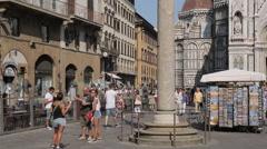 Plaza del Duomo, Florence, Tuscany, Italy, Europe Stock Footage