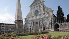 Santa Maria Novella, Plaza Di Santa Maria Novella, Florence, Tuscany, Italy, Stock Footage