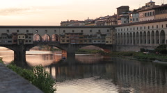 Ponte Vecchio & Arno River, Florence, Tuscany, Italy, Europe - stock footage