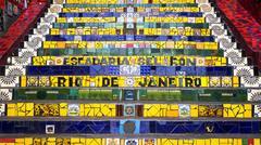 Escadaria Selaron, or Lapa Steps, in Rio de Janeiro, Brazil - stock photo