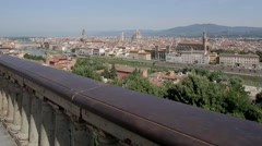 City Skyline from Piazzale Michelangelo, Florence, Tuscany, Italy, Europe Stock Footage