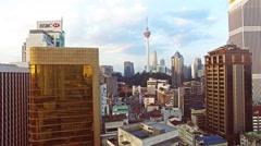 Kuala Lumpur from drone - stock footage