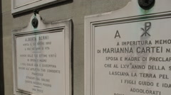 Cemetery Delle Porte Sante, Florence, Tuscany, Italy, Europe Stock Footage