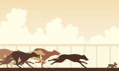 Stock Illustration of Greyhound dog race