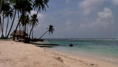 San Blas Islands Panama Sea Ocean Beach Paradise Palm Trees - stock footage