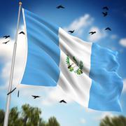 Flag of Guatemala Stock Illustration