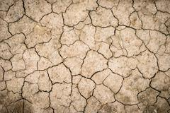 Cracked ground for background Stock Photos