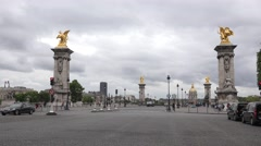 The Pont Alexandre III ((in 4k) in Paris, France. Stock Footage