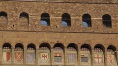 Campanile, Piazza Della Signoria, Florence, Tuscany, Italy, Europe Stock Footage