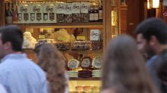 Shop Window near Piazza Della Signoria, Florence, Tuscany, Italy, Europe Stock Footage